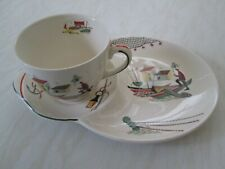 More details for alfred meakin tv set of a cup and plate in the brixham / fisherman design