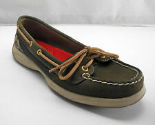 Sperry Top-Sider Brown Nubuck Leather Mesh Camouflage Boat Shoes - Women's 6M