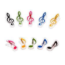 1pc Music Note Book Page Clip Musical Quaver Plastic Music Page Clip Piano clip