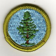 Forestry Merit Badge, Type G, Cloth Back  (1969-72), Mint!