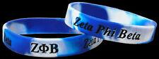 Set of 2 Zeta Phi Beta Silicone Bracelets Brand New FREE SHIPPING!!!