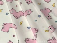 ROSE AND HUBBLE IVORY BABY LLAMA FABRIC 100% COTTON 112CM WIDE SOLD PER  METRE