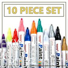 10Pcs Waterproof Permanent Paint Marker Pen For Car Tyre Tire Tread Rubber Metal