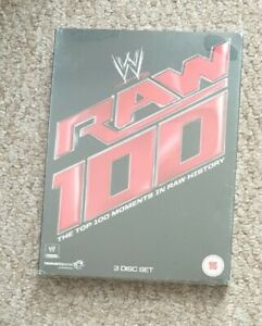 WWE Top 100 RAW Moments DVD, 2013 3-Disc Set brand new sealed