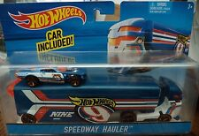 HOT WHEELS SPEEDWAY HAULER BIG RIG SEMI TRUCK DKF85 2015 *NEW*