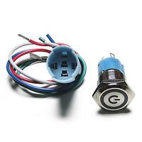 16mm 5 / 8inch Anello Led Metallo autobloccante Interruttore a pulsante Aut T2N3
