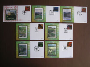 Wales - 7 different definitive Benham FDCs  - from 2004