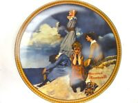"""Rockwell Waiting on The Shore 1981 Knowles Plate Limited Edition 17157J 8 5/8"""""""