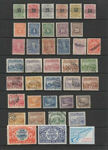 Costa Rica, Postage Dues , Telegraph stamps etc , MH or used , 39 stamps