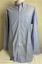 LL Bean Mens Long Sleeve Collared Button Front Shirt Blue Size XL Tall