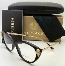 New VERSACE Eyeglasses Mod. 3262-B GB1 54-16 140 Black & Gold Frames w/ Crystals