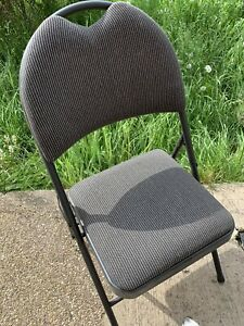 Folding Grey Office Craft Room Workshop Chairs