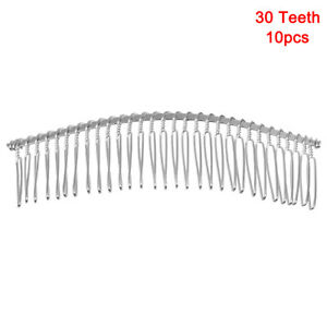 20/30 Teeth Metal Wire Twisted Hair Comb Shiny Hair Comb Clips For Women Girls