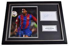 Patrick Kluivert SIGNED FRAMED Photo Autograph 16x12 display Barcelona AFTAL COA