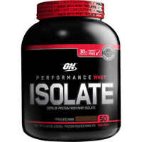 Optimum Nutrition 100% Whey Protein Isolate  4 Pounds 50 Servings CHOCOLATE