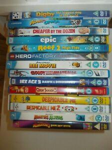 Children's Family DVD Movie Bundle x 14 Ice Age 3 Bee Movie Madagascar 3 more