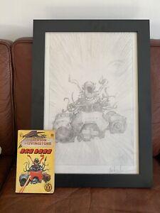 Fighting Fantasy Sky Lord Original Art Prelim By Les Edwards