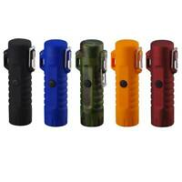 Waterproof USB Rechargeable Double Arc Pulsed Safe Windproof Cigarette Lighter
