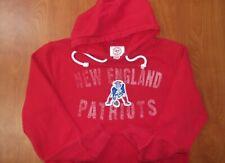 47' New England Patriots Football Stitched Throwback Logo Hoodie Sweatshirt M