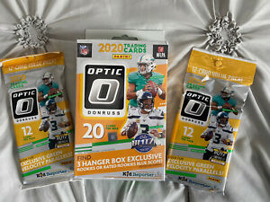 2020 Panini Donruss Optic Football Hanger & 2 Cello packs lot 🔥