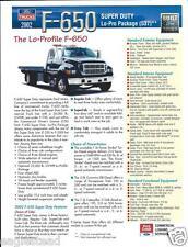 Truck Brochure - Ford - F-650 - Super Duty Low Profile - Rescue - 2 item (T1309)