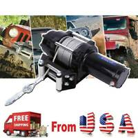 12V Electric Winch Recovery 4000lbs Steel Cable Truck SUV W/Remote Control