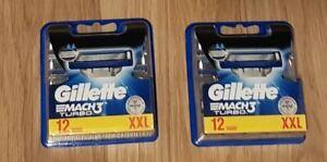 24x Gillette Mach 3 TURBO Rasierklingen 2 x 12 Klingen Neu Ersatzklingen