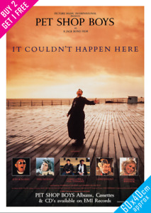 Pet Shop Boys It Couldn't Happen Here movie poster Large 60x40 A2 Wall Art