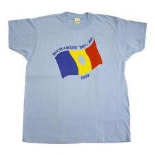 Bucharest 89 Short Sleeve Tshirts   Vintage Single Stitch Romania Holiday