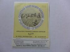 étiquette VIN CHÂTEAU HAUT-SAINT-GEORGES  1959 St-EMILION