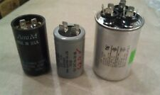 8t43 MOTOR START CAPACITORS, 3PCS: 110V/189-227MF/TOK, 220V/53-64MF/62.0, ET AL