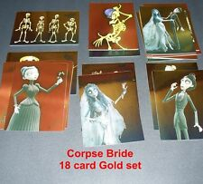 CORPSE BRIDE    COMPLETE BASE SET + Gold Chase Set ( 63 Cards )
