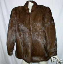 MINT rabbit FUR CAPE STOLE   COAT JACKET VINTAGE LARGE