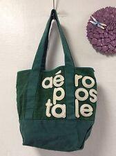 Womens Mens tote shopper handbag beach green Aeropostale H38
