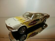 ERTL FORD MUSTANG SHELBY GT 350 - JOHN FORCE 11-TIME CHAMP -GOLD 1:18 VERY GOOD