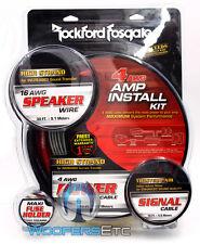 ROCKFORD FOSGATE RFK4X 4 GAUGE 100% COPPER COMPLETE AMPLIFIER INSTALL WIRE KIT
