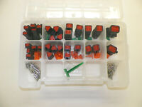 191 PC BLACK OEM DEUTSCH DT CONNECTOR KIT SOLID CONTACTS + REMOVAL TOOL