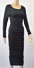 Bnwt Max Studio schwarz Side Drape Kleid-Größe XS (R154)