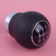 Car 5 Speed Leather Gear Shift Knob Stick Manual Shifter Lever + Tools Universal