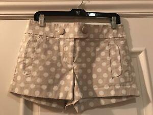 J.CREW Polka Dot City Fit Shorts Gray/White 4