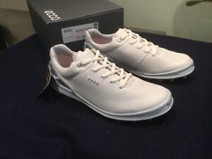 £170 Ecco Gor-Tex white leather ladies golf shoes UK 6 EU39