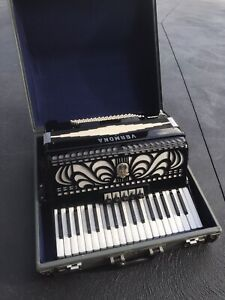 Vermona 96 Bass Accordion with Carry Case