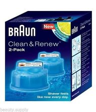 BRAUN CCR2 Electric Shaver Clean and Renew Refill (2x Refill Cartridges)
