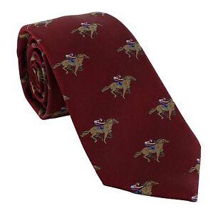 Michelsons of London Jockey on Race Horse Silk Tie