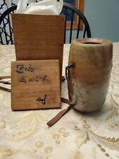 Fujiwara Ken  Hidasaki Kake Hanaire  Hanging Vase Japanese Vase Pottery