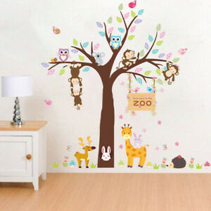 3D Removable Wall Sticker Cartoon Monkey Animal Zoo Decal Children's Bedroom
