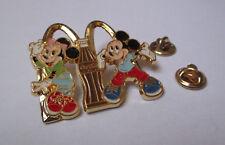 pin's Mac Donald's & Coca cola / Disney - Mickey et Minnie (double attache)