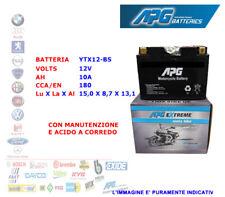 BATTERIA MOTO SCOOTER QUAD 12V 10A CCA-EN 180 YTX12-BS APG EXTREME XETX12BS