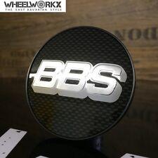 Original BBS Emblem Felgendeckel Nabenkappen carbon/silber 70,6mm chrom 0924282