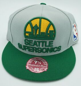 NBA Seattle Supersonics Mitchell & Ness Adult Fitted Cap Hat Beanie M&N NEW!